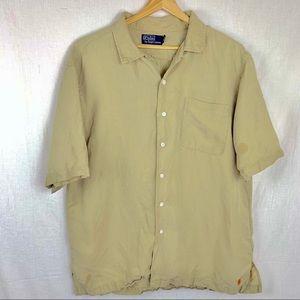 Polo Ralph Lauren linen button up s/s shirt